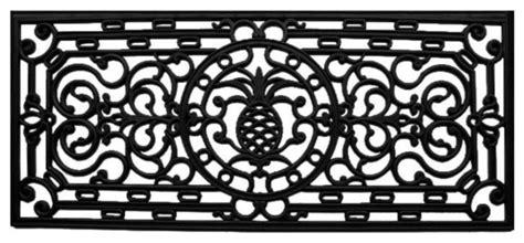 pineapple rubber st pineapple heritage rubber doormat tropical doormats