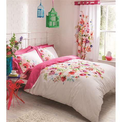 bright bedding catherine lansfield bright floral bedding set multi