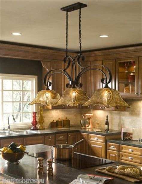 country lighting fixtures kitchen country bronze glass kitchen island