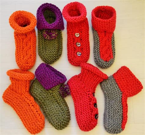 chunky socks knitting pattern chunky slipper socks 4 styles knitting pattern by