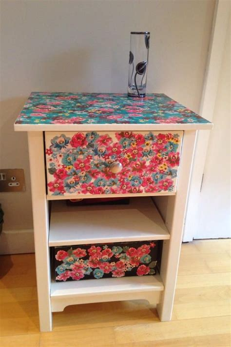 decoupage bedside table pin by wilma brown on bright furnishings