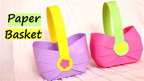 craft by paper how to make a paper basket for easter 2017 easy paper