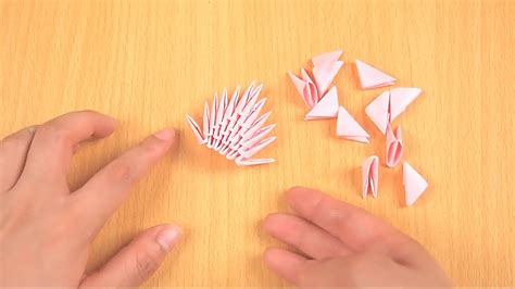 how to make a origami 3d how to make 3d origami pieces with pictures wikihow