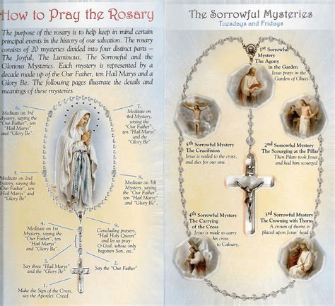 rosary information how to pray the rosary phlet