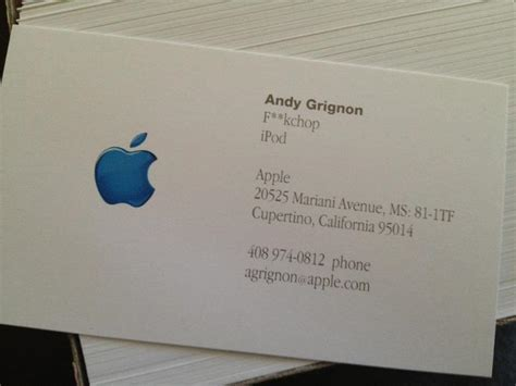 how to make business cards on a mac steve called key apple manager a quot fuckchop quot