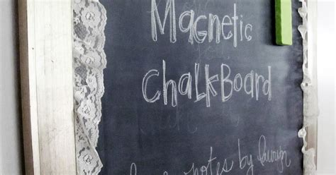 chalkboard paint yes or no notes by lauryn magnetic chalkboard tutorial how to