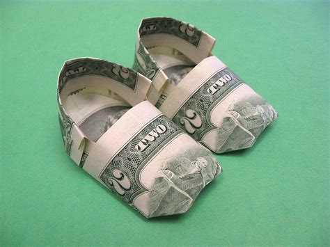origami boot dollar bill beautiful money origami pieces many designs made of