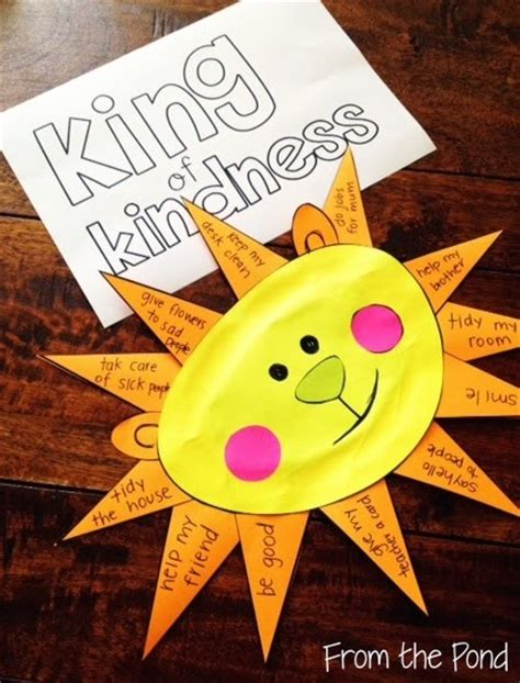 kindness crafts for kindness day craft freebie from the pond