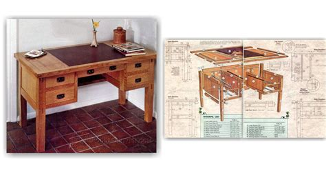 arts and crafts woodworking arts and crafts desk plans woodarchivist