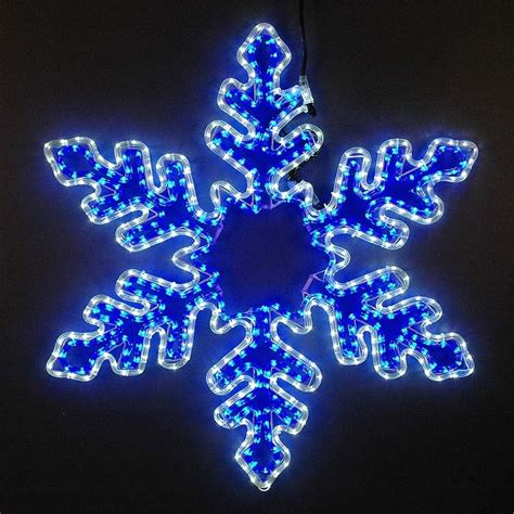 large white lights 5 led rope light snowflake large blue and cool white