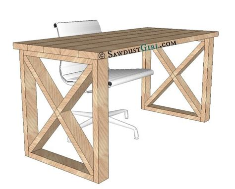 desk plans x leg office desk sawdust 174