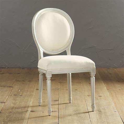 oval back louis xvi side chair contemporary dining
