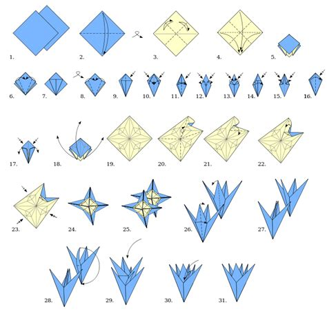 origami paper types origami types modular origami flower wikibooks open