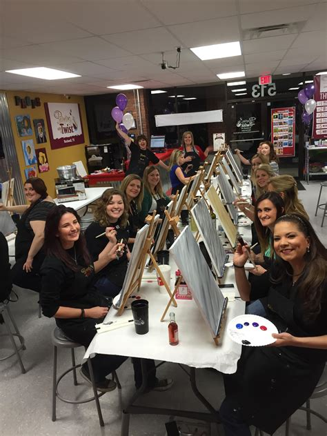 paint with a twist rockwall tx painting with a purpose event raises funds for in