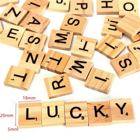 is iv a scrabble word 100pcs wooden scrabble letters scrapbooking
