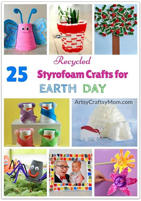 earth day recycled crafts for 25 recycled styrofoam crafts for earth day