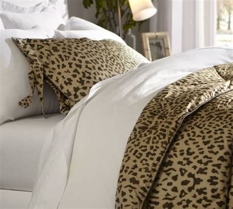 leopard king comforter set leopard comforter sham pottery barn