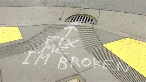 spray paint san francisco quot fix me i m broken quot spray painted in front of san