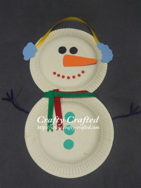 snowman paper crafts crafty crafted crafts for children 187 snowman