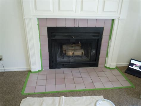 chalk paint fireplace tile chalk paint on tile around fireplace fireplaces