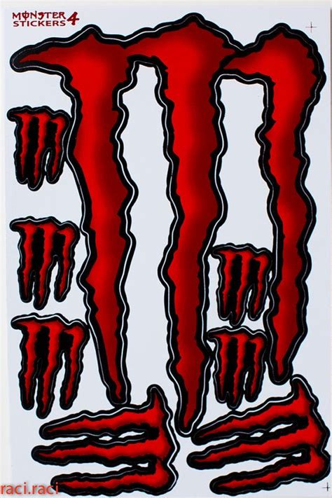 Monster Energy Sticker Truck by Red Monster Energy Sticker Decal Supercross Motocross By