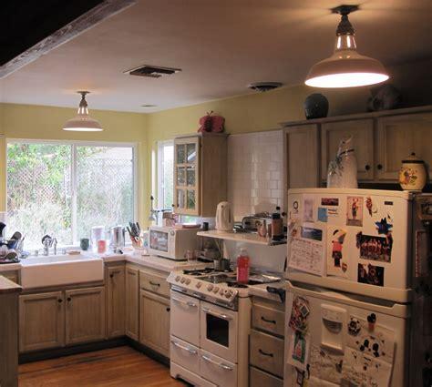 flush kitchen lighting vintage benjamin warehouse shades for farmhouse kitchen