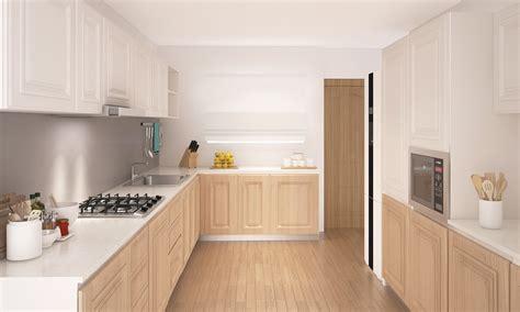 parallel kitchen design livspace