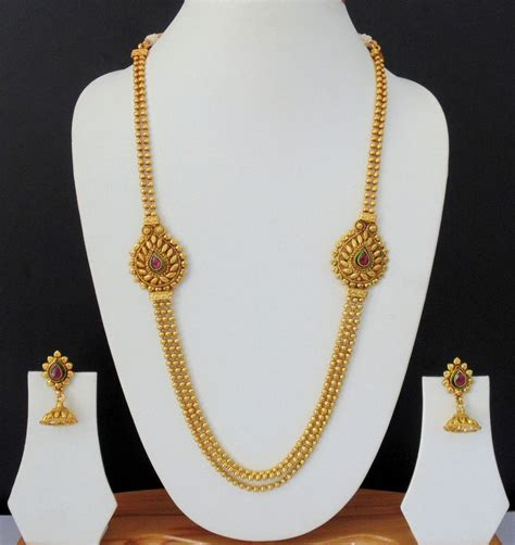how to make gold plated jewelry necklace indian jewelry ruby ethnic gold plated