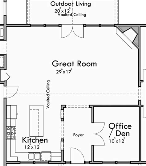 great house floor plans portland oregon house plans one story house plans great room