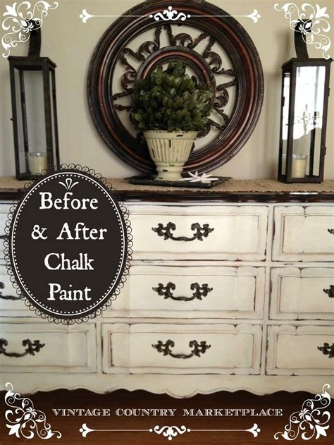 chalk paint distress before or after wax vintage country style get inspired before after