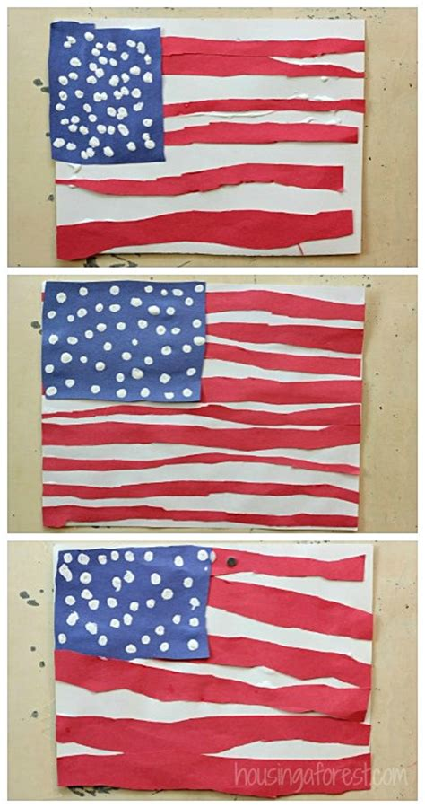 flag crafts for simple american flag craft for housing a forest