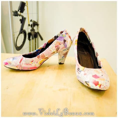 decoupage shoes diy how to diy decoupage shoes tutorial violet lebeaux