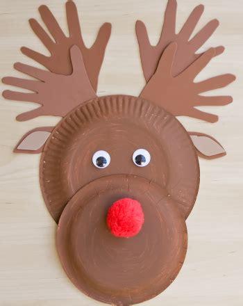 reindeer paper crafts make a paper plate reindeer activity education