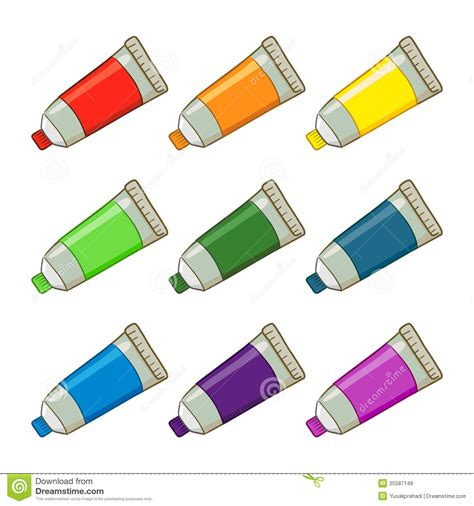 acrylic paint clipart colorful paint royalty free stock images image