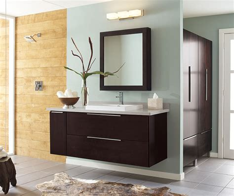 Ideas For Bathroom Vanities And Cabinets wall mounted bathroom vanity in dark cherry decora
