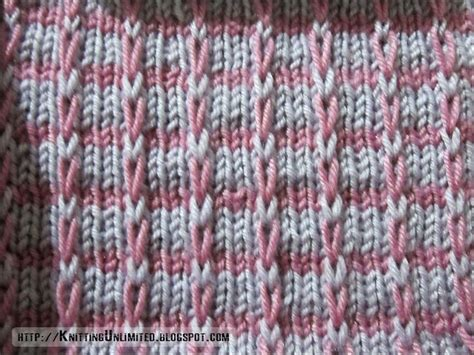 slip knit knitting unlimited slip stitch patterns mosaic