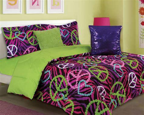 peace sign comforter sets bedding 5 comforter set pink purple