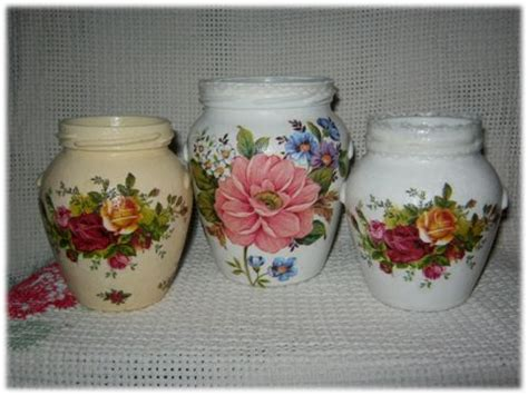 decoupage on glass jars decoupage jars decoupage glass jars and tins