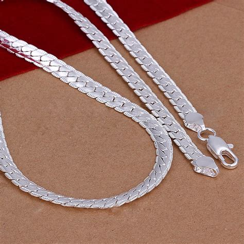 where to buy chain for jewelry 5mm 925 solid sterling silver necklace chain 20 quot inch