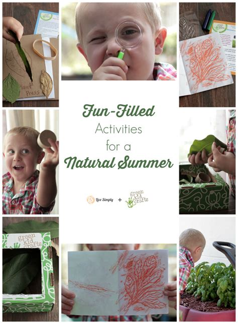 green kid crafts filled activities for a summer live simply