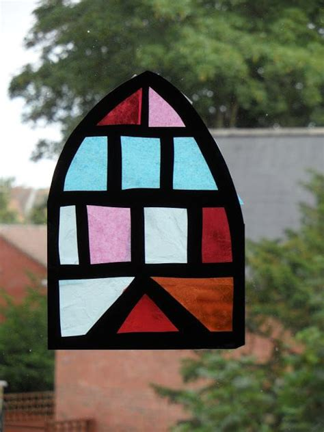 stained glass tissue paper craft tissue paper stained glass window craft with ruth