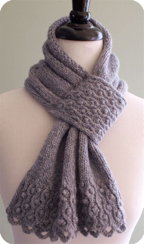 knit and pearl drifted pearls scarf knitting pattern pattern for