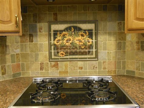 kitchen tile murals tile backsplashes decorative tile backsplash kitchen tile ideas sunflower basket tile mural