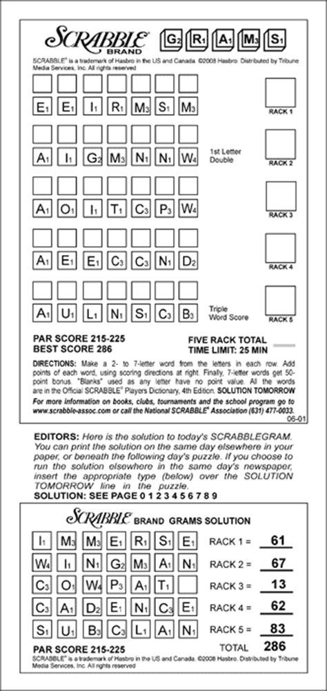 scrabble gram puzzles auspac media the feature