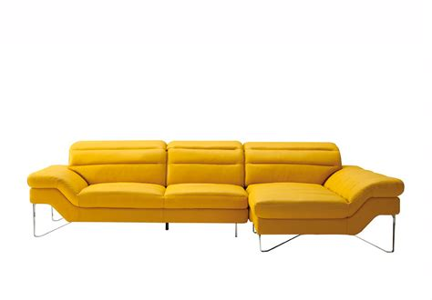 yellow leather sectional sofa vg994 leather sectionals