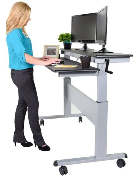 standing work desks best height adjustable standing desk reviews top 10