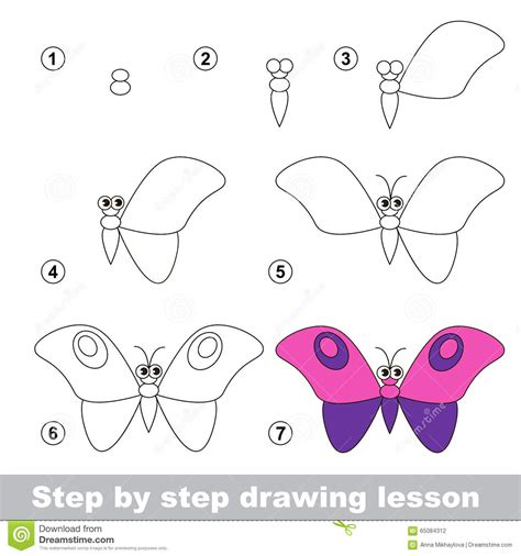 butterfly step by step drawing tutorial how to draw a giraffe vector