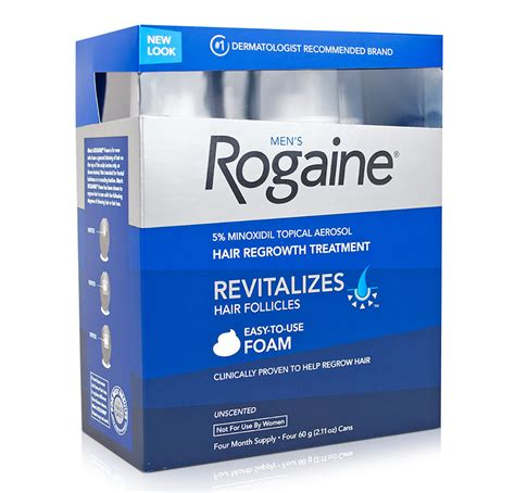 Rogaine Foam Regaine Men 5% Minoxidil 4 Month Supply