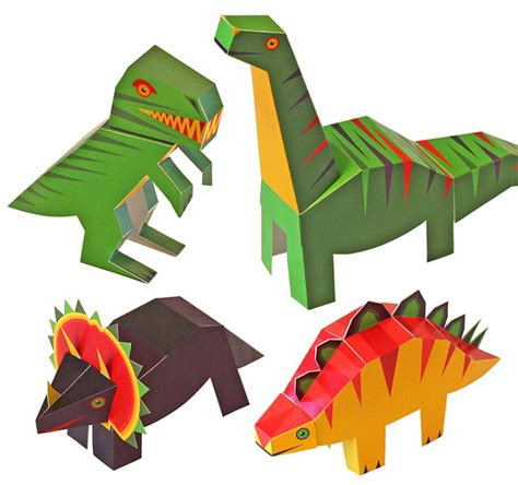 dinosaur paper craft pukaca dinosaurs paper toys diy paper craft kit review