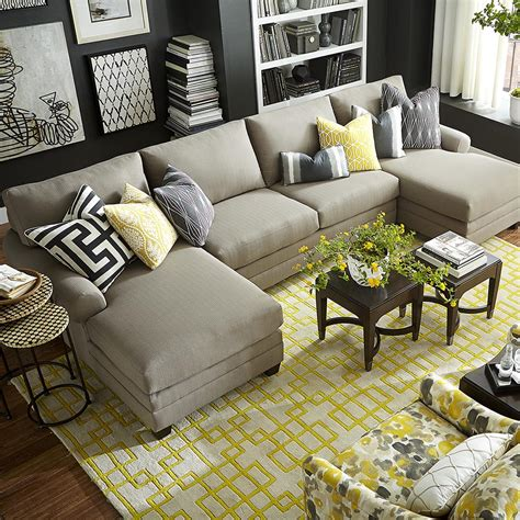 sectional or two sofas 3 sectional sofa and ottoman two